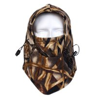 Wholesale New Winter Thermal Fleece Camouflage Headgear Balaclava Face Mask Hood Hat For Hunting Fishing Military Tactical