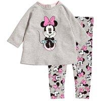 fashion pajamas - New kids set T shirt Trouse baby pajamas girls long sleeve children sets baby clothes cotton kids hoodies fashion girls pajamas