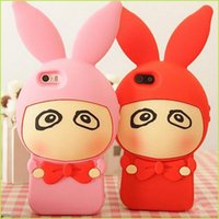 big ear phones - For Iphone Iphone plus Cell Phone Cases Red Tie Rabbit Mobile Phone Case Big Eyes Ear Shell Phone Covers