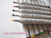 Wholesale assorted color finecolour sketch marker set on a budget cheaper than Copic hot holiday gifts of art marker pens to artist