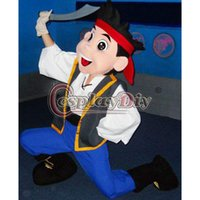 Wholesale Custuom made Jake Mascot Costume Adult cartoon Character Costume Jake and the Neverland fancy dress for Halloween and Christmas party