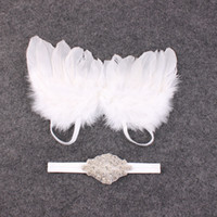 beautiful hair photos - 50SET baby Couture Fairy Angel white Wing and Sparkle Sequin Headband Set Beautiful Newborn Christening hair band Photo Prop YM6127