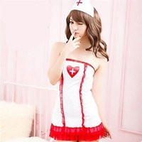 sexy nurse uniform - 2015 new items Sexy Uniform Game Anime Costume Nurse White Jumpsuit Ruffled Lingerie Set Role Playing DS Clothing A6022