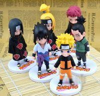 Wholesale 6pcs set cm inch Naruto Action figures Uzumaki Naruto Gaara Pain killers Hoshigaki Obito Uchiha PVC figure Children s Toy gift LY