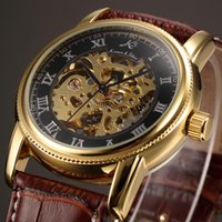 Wholesale KS Brand Watches Skeleton Stainless Steel Case Men Wristwatches Leather Strap Relogio Automatic Self Winding Causal Watch KS032