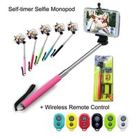 alloy holsters - 3 in kit Extendable Handheld Self portrait selfie Monopod Bluetooth Remote Shutter with holster for iPhone Samsung smart phone