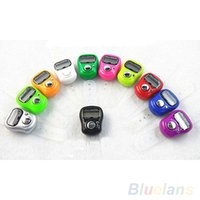 Wholesale Electronic Row Counter Finger Ring Golf Digit Stitch Marker LCD Tally Counter