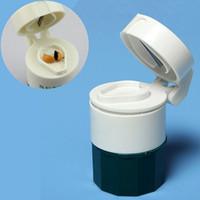 box cutter - Pill Medicine Crusher Grinder Splitter Tablet Divider Cutter Storage Box Layer