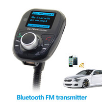 car radio with mp3 player - Car FM Transmitter Bluetooth Handsfree Car Kit MP3 Music Player Radio Adapter with Remote Control For iPhone Samsung LG Smartphone