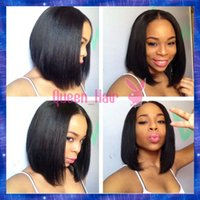 Wholesale Natural Middle Part Brazilian Human Hair Lace Front Wig Cut Bob Glueless Full Lace Wigs With Baby Hair For Women