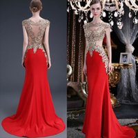 Wholesale 2016 red evening dresses formal mermaid evening gowns with appliques cystals beaded plus size evening gowns