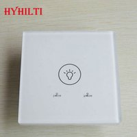 Wholesale Promotion UK Standard White Pearl Crystal Glass Panel Touch Screen Wall Time Delay Switch Light Timer Switch