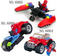 toy for man - Spider Man Red Police Car Building Block Sets Educational DIY Bricks Toys for kids