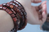 Cheap Natural Red Sandalwood Willow Prayer Beads 108 pcs Buddhist Bracelet Buddha Wooden Rosary Bangle Men jewelry