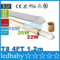 Wholesale 2016 ft m mm T8 Led Tube W W W Warm Natraul Cool White Led Fluorescent Lamp AC V CE ROHS