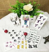 Wholesale cute Tattoo Sticker Waterproof Body Arm Legs styles Art Tattoos Sticker Tatouage Glitter Black Temporary Tatoo letters cats Removable