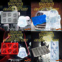 cake icing - Silicone star wars ice cube tray molds Creative US DIY model FDA silicone chocolate cake mold ice box sets with exquisite packagin