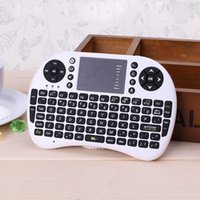 Wholesale 2 Ghz Wireless Keyboard Portable mini keyboard Rii Mini i8 Wireless Keyboard with Touchpad for PC Pad Google Andriod TV Box