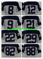 Wholesale 15 season New Player White and blue Sports Elite Football Jerseys Cheap Football Jerseys Tops men Football Uniforms Football Wear Shirts