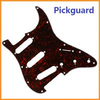 Wholesale High quality Brand New Red Tortoise Shell Pickguard Scratch Plate Ply SSS For ST Strat Guitar Dropshipping