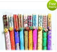 Wholesale PAIRS BAMBOO CHOPSTICKS WITH SILK COVER