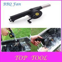 Wholesale Hot Sale BBQ Fan Manual Blower Cranked Outdoor Picnic Camping Fan Air Blower For Barbecue Fire Bellows w Hand Crank DX711 A3A5
