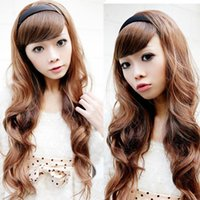 Wholesale Clip in Hair Extensions inch inch Long Hairpiece Curly Heat Resistant Synthetic Natural Hair Extension