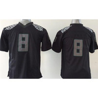Cheap Black #8 Boys College Football Jerseys Stylish Football Uniforms 2015 New Style American Football Jerseys Youth Player Football Shirts