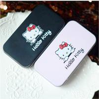 Bonjour Kitty Make Up Brush Kit cosmétique Pinceaux Case Fer Rose / toilette Appareils de Beauté 7pcs / 240sets set