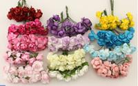 Wholesale 288PCS Mulberry Paper Flower Bouquet Scrapbooking artificial rose flowers Wedding household adornment flowers