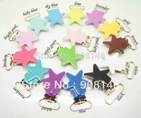 Wholesale Hot selling per star shaped suspender clips mixed colors metal suspender clips