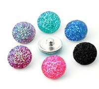 Wholesale 100pcs High quality Mix Colors mm Snap Button Charm Alloy Resin Styles Button Ginger Snaps Jewelry