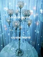 antique candelabras - elegant tall Crystal hurricane wedding candelabra Antique candelabra for wedding Hurricane candelabra