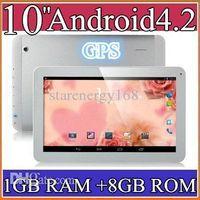 10 inch Android 4.2 8GB q10 10.1 Inch Quad Core 3G Phablet Android 4.2 1GB RAM 8GB MTK8382 Quad Core 1.3Ghz GPS Bluetooth Dual Sim Card Tablet Phone PB10-6
