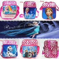 backpack comics - the Frozen Soft Toy baby girl cartoon Elsa Anna Olaf Family schoolbag children travel backpack shoulder bag MYF07