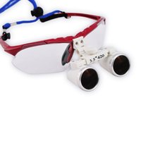 Wholesale Portable X420mm Dentist Surgical Medical Binocular Dental Loupe Optical Glass with LED Head Light Lamp p9
