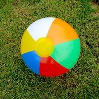Wholesale Beach Ball Colour Striped Rainbow Beach Ball Outdoor Beach Ball Water Sports Balloon For Children