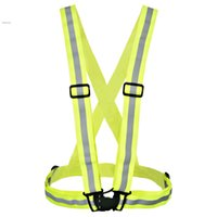 Wholesale High Visibility Safety Vest Reflective Belt Vest Cycling Vest fit for Sports Outdoor