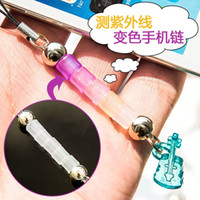 Wholesale A03 Measuring UV color cell phone chain mobile phone pendant