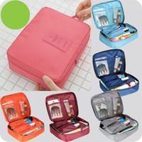 Wholesale 2015 Nylon Multifunction Make up Organizer bag Women Cosmetic bags Ourdoor Travel Bag Handbag Bolsas