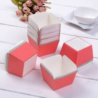 Wholesale 2015 Hot Selling DIY Muffin Cups Baking Mold Red Dots Square Cupcake Box Cooking Tools