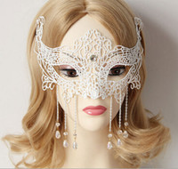 Wholesale Foreign trade goods appeal mask transsexuals drag COS masked ball lace crystal princess half face masks