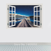 beautiful bathrooms pictures - Wall Sticker D Windows Beautiful Sky Stars Wall Pictures For Living Room Vinyl Decals Home Decor New Room Mural Art
