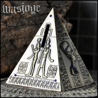 ancient egypt pyramids - Ancient Egypt Style Classic Pyramid Mini Tin Piggy Bank creative Decoration Money Box Saving Pot Creative Gift Piggy banks