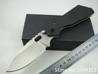 Wholesale Strider SMF folding knife D2 stainless steel blade stone wash titanium alloy TC4 handle black G10 handle tactical knife faca