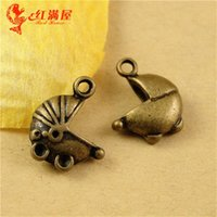 antique baby strollers - 17 MM Antique Bronze Vintage Baby Car mobile phone ornaments pendants Korean jewelry Baby carriage charm bead stroller charm