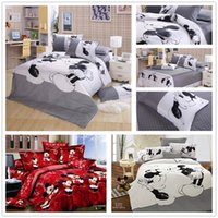 mickey mouse bedding - cute red black mickey minnie mouse bedding set queen king size for girls children s boys home decor cotton bed duvet cover