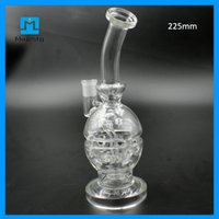 Faberge verre mothership Prix-Pipes Mothership Fabergé Egg eau plates-formes pétrolières avec la meilleure qualité pour Herb sec Cire plates-formes pétrolières en verre Bongs 225mm