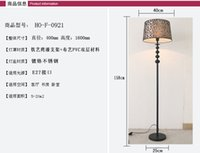 Wholesale High quality Hotel home bar restraurant decoraive lamp Iron Frabic floor lamp Simple European Modern Floor lamp Protable Foot switch lamp