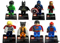 Wholesale Super Heroes The Avengers Iron Man Hulk Batman Wolverine Thor Building Blocks Sets Minifigure Bricks Toys
